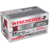 BALLES WINCHESTER CAL 22WM SUPER X JACKETED HP 40GR X150