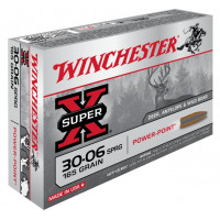 BALLES WINCHESTER POWER POINT CALIBRE 30-06 165 GR