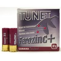 CARTOUCHES TUNET FEROZINC CALIBRE 12 - 32 G - BJ - PB 7