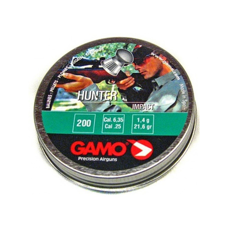 PLOMBS GAMO HUNTER IMPACT 6.35 PAR 200