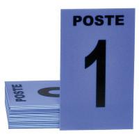 JEU DE 24 CARTES DE POSTE BLEU + 3 NEUTRES BLEU