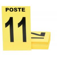 JEU DE 24 CARTES DE POSTE JAUNE + 3 NEUTRES JAUNE