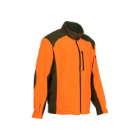 BLOUSON PERCUSSION POLAIRECOR BRODE CHASSE KAKI/ORANGE L