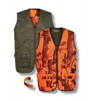 GILET CHASSE PERCUSSION SAVANE REVERSIBLE GHOST CAMO S
