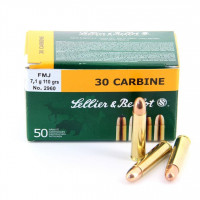 BALLES SELLIER BELLOT CALIBRE 30 CARBINE FMJ