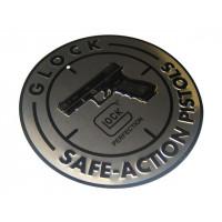 PANNEAU PLAQUE ALU GLOCK SAFE ACTION PISTOLS