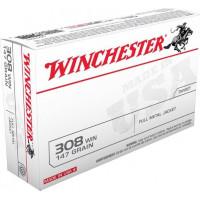 BALLES WINCHESTER FMJ CALIBRE 308 WIN 147 GR