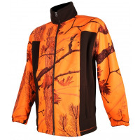 BLOUSON POLAIRE SOMLYS CAMO ORANGE MARRON L