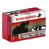 CARTOUCHES WINCHESTER CHEVROTINES BUCKSHOT CALIBRE 12 - 38 G - 27 GRAINS