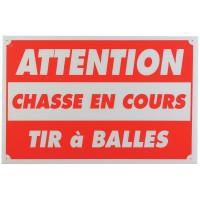 PANNEAU CHASSE EN COURS TIR A BALLES 25 X 30 CM AKYLUX