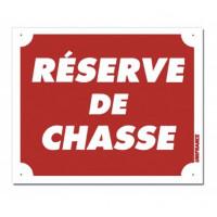 PANNEAU RESERVE DE CHASSE 25 X 30 CM ALU