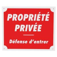 PANNEAU PROPRIÉTÉ PRIVÉE 28 CM ROUGE