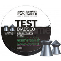 BOÎTE 350 PLOMBS JSB DIABOLO MATCH TEST LIGHT WEIGHT CAL.4.5 DIAM.4.5