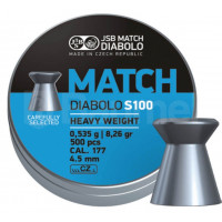 BOÎTE 500 PLOMBS JSB DIABOLO BLUE MATCH HEAVY WEIGHT CAL.4.5 DIAM.4.49