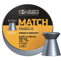 BOÎTE 500 PLOMBS JSB DIABOLO YELLOW MATCH MIDDLE WEIGHT CAL.4.5 DIAM.4.49