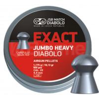 BOÎTE 250 PLOMBS JSB DIABOLO JUMBO EXACT HEAVY DIAM.5.52