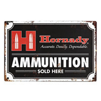 HORNADY CARTOUCHES TIN SIGN