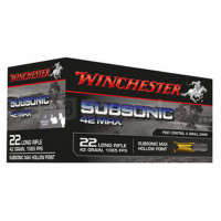 BALLES WINCHESTER SUBSONIC MAX HP CALIBRE 22 LR 42 GR