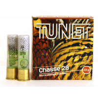 CARTOUCHES TUNET CHASSE REVERSIBLE CALIBRE 28 - 22 G - BIOR - PB 7 N