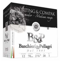 CARTOUCHES B&P SPORTING MEDIUM RANGE CALIBRE 12 - 28 G - BJ - PB 8.5
