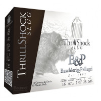 CARTOUCHES B&P BIG GAME THRILL SHOCK CALIBRE 16 - 26 G - SLUG