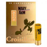 CARTOUCHES MARY ARM CROISILLON CALIBRE 20 - 26G - BG - PB7