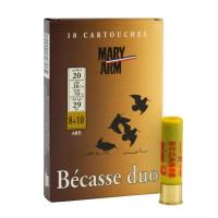 CARTOUCHES MARY ARM BÉCASSE DUO CALIBRE 20 - 29 G - BG - PB 8+10