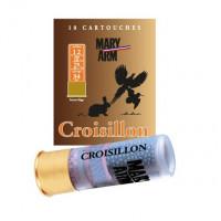 CARTOUCHES MARY ARM CROISILLON CALIBRE 12 - 34 G - BG - PB 7