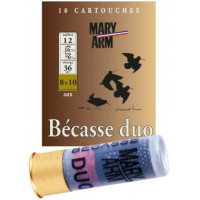 CARTOUCHES MARY ARM BÉCASSE DUO CALIBRE 12 - 36 G - BG - PB 8+10