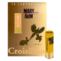 CARTOUCHES MARY ARM CROISILLON CALIBRE 20 - 26 G - BG - PB 9