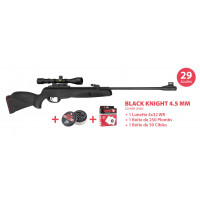PACK CARABINE GAMO BLACK KNIGHT CALIBRE 4.5 + 4X32 + CIBLE + PLOMBS
