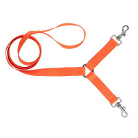 LAISSE HB DOG POLYPROPYLENE 120 CM + COUPLEUR ORANGE FLUO