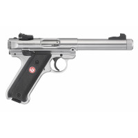 PISTOLET RUGER MARK IV TARGET INOX TARGET CANON BULL CALIBRE 22 LR FI 5.5 POUCES