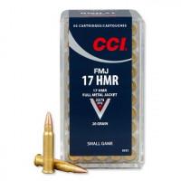 CARTOUCHES CCI 17HMR 20 GR FMJ PAR 50