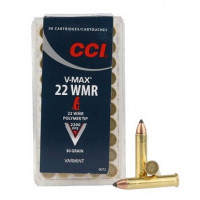 CARTOUCHES CCI 22 WMR 30GR V-MAX PAR 50