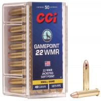 CARTOUCHES CCI 22 WMR GAMEPOINT 40GR PAR 50