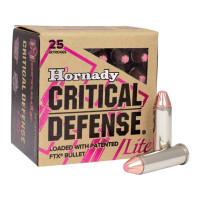 BOITE DE 25 CARTOUCHES HORNADY 38 SPCL 90 GR FTX CD LITE