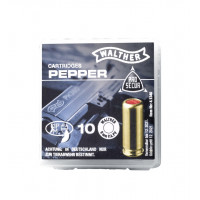 CARTOUCHES 9 MM PA GAZ PEPPER WALTHER X10