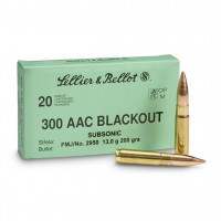 CARTOUCHES SELLIER & BELLOT CAL.300 AAC FMJ 13G