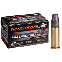 50 CARTOUCHES WINCHESTER 22LR SUBSONIC 40GR LRN