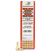 100 CARTOUCHES WINCHESTER 22LR SUPER X COPPER PLATED 40G