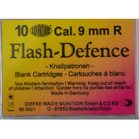 10 CARTOUCHES WADIE 9MM/380 FLASH DEFENCE A BLANC