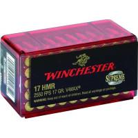 50 CARTOUCHES WINCHESTER 17 HMR VARMINT HV 17G V-MAX