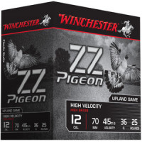 25 CARTOUCHES WINCHESTER 12/70 ZZ PIGEON 36G PB7.5