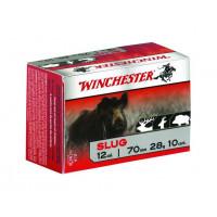 10 CARTOUCHES BALLE WINCHESTER 12/70 SLUG FOSTER 28G