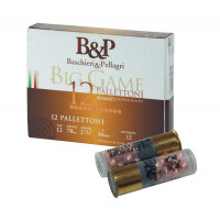CARTOUCHES B&P BIG GAME PALLETTONI 10G CALIBRE 12 - 37G - 10 GRAINS 11/0 - 8.6M