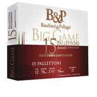 CARTOUCHES B&P BIG GAME PALLETTONI 15G CALIBRE 12 - 56G - 15 GRAINS 11/0 - 8.6M
