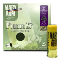 CARTOUCHES MARY ARM PUMA 27 CALIBRE 20 - 27G - BJ - PB6