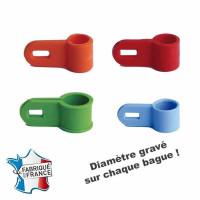 BAGUE D'ATTACHE POUR SAUVAGINE - DIAMETRE 9.5MM PILET - SOUCHET - PLONGEURS