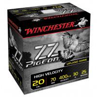 25 CARTOUCHES WINCHESTER 20/70 ZZ PIGEON 30G PB5.5